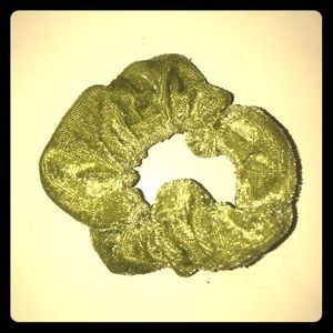 Moss green scrunchie